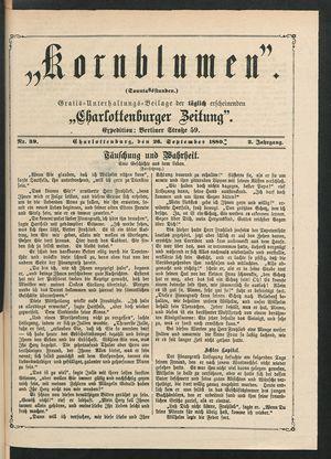 Kornblumen vom 26.09.1880
