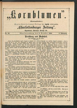 Kornblumen vom 03.10.1880
