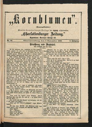 Kornblumen vom 07.11.1880