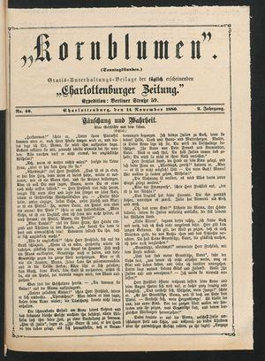 Kornblumen vom 14.11.1880