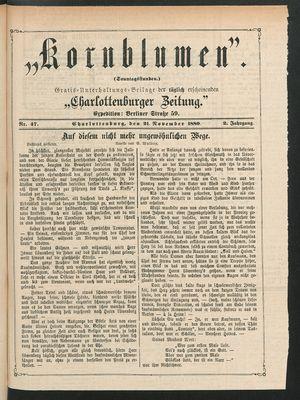 Kornblumen vom 21.11.1880