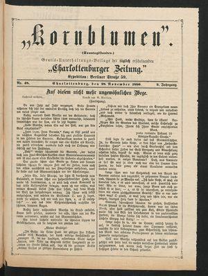 Kornblumen vom 28.11.1880