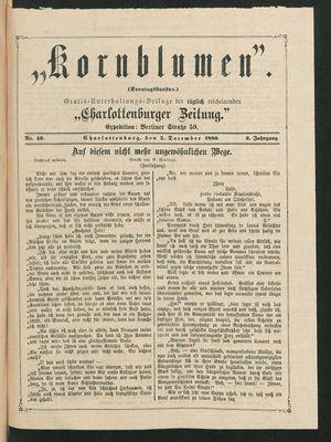 Kornblumen vom 05.12.1880