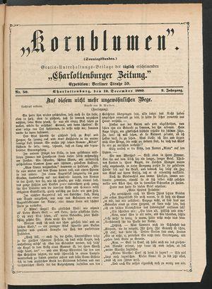 Kornblumen vom 12.12.1880