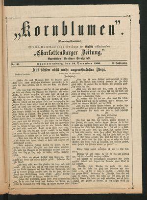 Kornblumen vom 19.12.1880