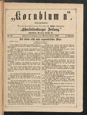 Kornblumen vom 26.12.1880