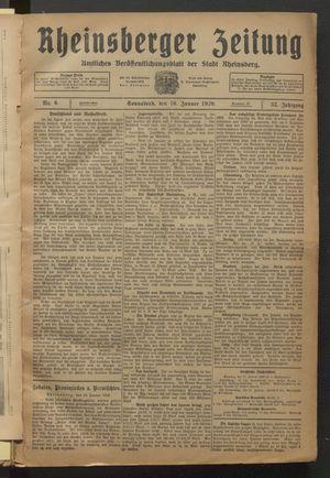 Rheinsberger Zeitung on Jan 16, 1926
