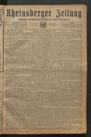 Rheinsberger Zeitung on Feb 9, 1926
