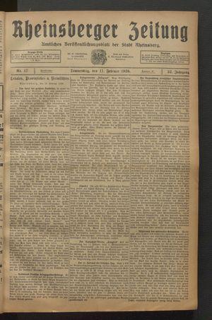 Rheinsberger Zeitung on Feb 11, 1926