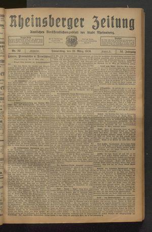 Rheinsberger Zeitung on Mar 18, 1926