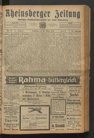 Rheinsberger Zeitung on Mar 30, 1926