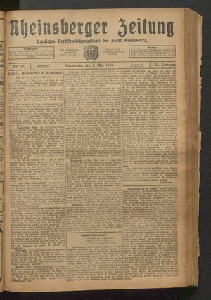 Rheinsberger Zeitung vom 06.05.1926