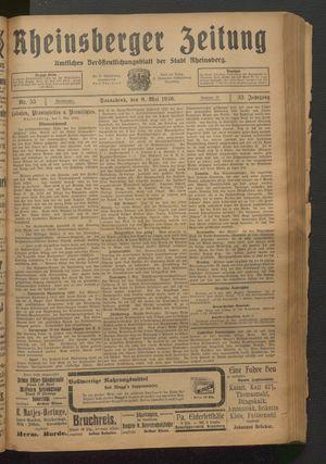 Rheinsberger Zeitung vom 08.05.1926