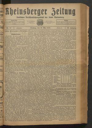 Rheinsberger Zeitung vom 18.05.1926