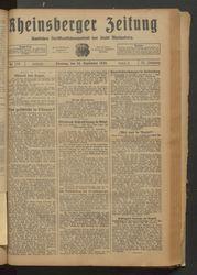 Rheinsberger Zeitung (24.09.1929)