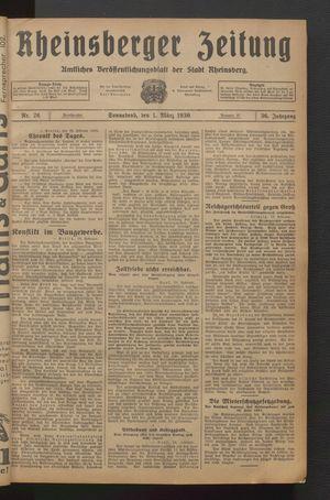 Rheinsberger Zeitung on Mar 1, 1930