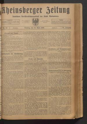 Rheinsberger Zeitung vom 29.04.1930
