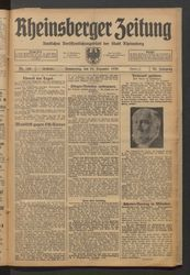 Rheinsberger Zeitung (18.12.1930)
