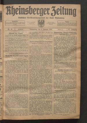 Rheinsberger Zeitung on Feb 5, 1931