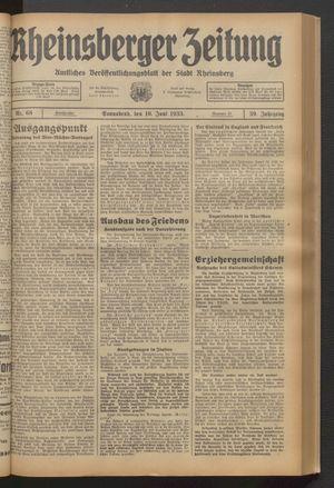 Rheinsberger Zeitung on Jun 10, 1933