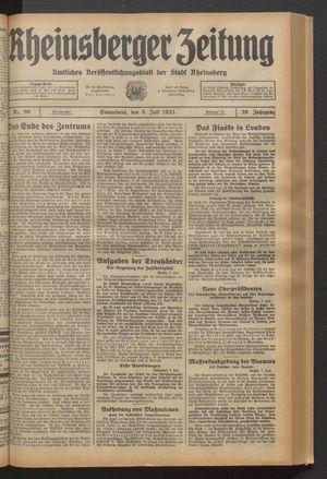 Rheinsberger Zeitung on Jul 8, 1933
