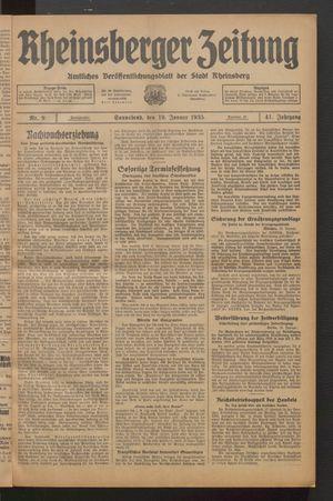 Rheinsberger Zeitung vom 19.01.1935