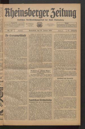 Rheinsberger Zeitung on Jan 26, 1935