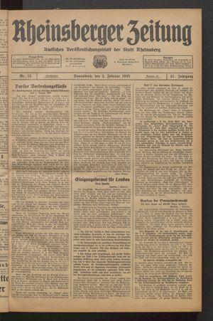 Rheinsberger Zeitung on Feb 2, 1935