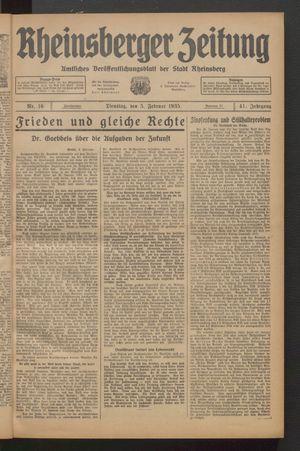 Rheinsberger Zeitung vom 05.02.1935