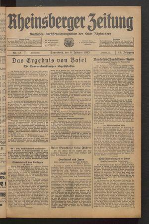 Rheinsberger Zeitung vom 09.02.1935