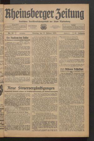 Rheinsberger Zeitung on Feb 12, 1935