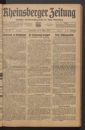 Rheinsberger Zeitung vom 09.03.1935