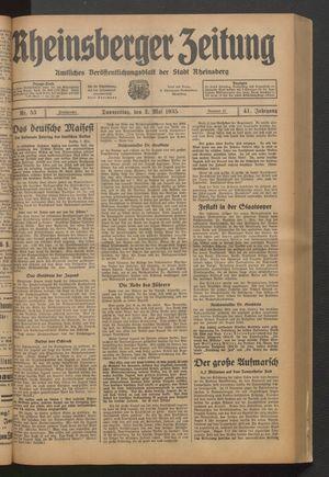 Rheinsberger Zeitung vom 02.05.1935