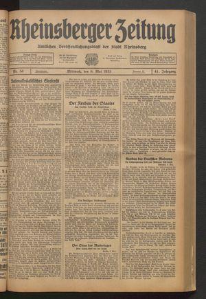 Rheinsberger Zeitung vom 08.05.1935