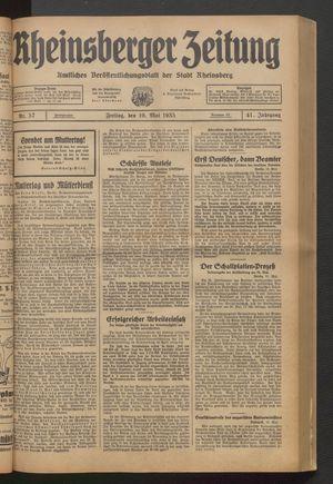 Rheinsberger Zeitung vom 10.05.1935