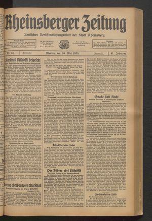 Rheinsberger Zeitung vom 20.05.1935