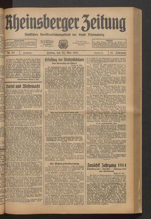 Rheinsberger Zeitung on May 24, 1935