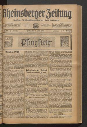 Rheinsberger Zeitung vom 07.06.1935