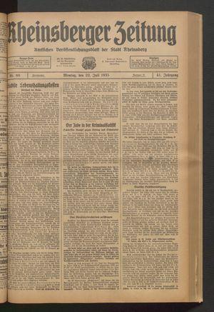 Rheinsberger Zeitung on Jul 22, 1935