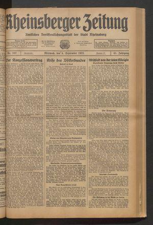 Rheinsberger Zeitung vom 04.09.1935