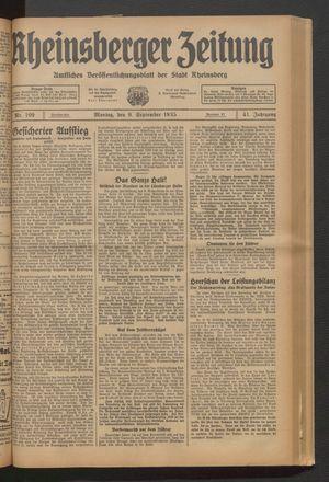 Rheinsberger Zeitung vom 09.09.1935