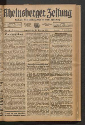 Rheinsberger Zeitung on Sep 20, 1935