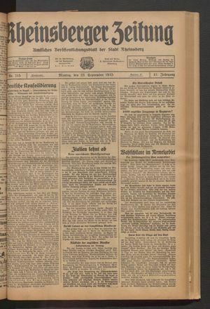 Rheinsberger Zeitung vom 23.09.1935