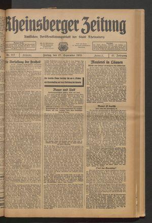 Rheinsberger Zeitung on Sep 27, 1935