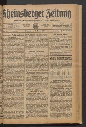 Rheinsberger Zeitung vom 02.10.1935