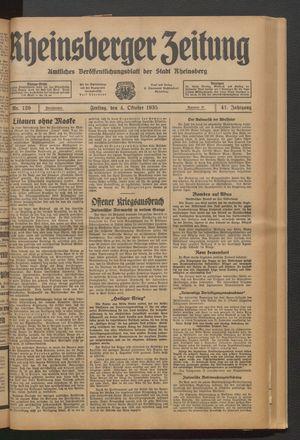 Rheinsberger Zeitung vom 04.10.1935