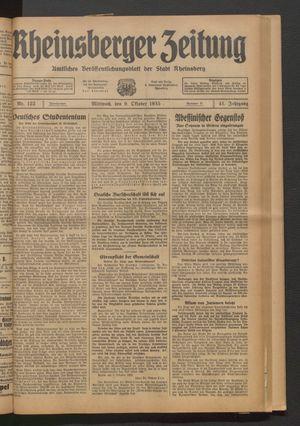 Rheinsberger Zeitung vom 09.10.1935