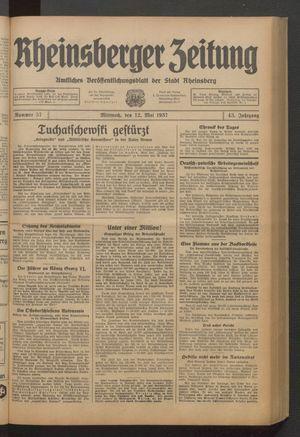 Rheinsberger Zeitung on May 12, 1937