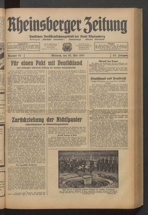 Rheinsberger Zeitung vom 26.05.1937