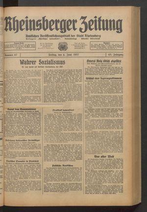 Rheinsberger Zeitung vom 04.06.1937